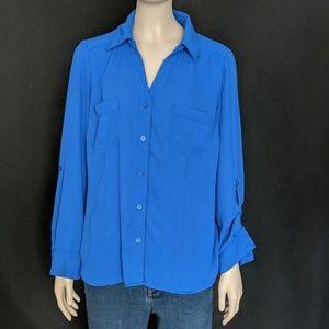 Candies - Button Up Blue Blouse